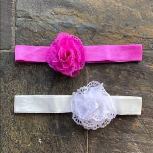Stretch Headband with Flower Bundle